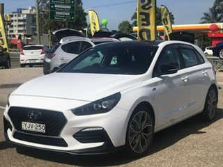 2020 Hyundai i30 PD.3 MY20 N Line D-CT Premium White 7 Speed Sports Automatic Dual Clutch Hatchback.