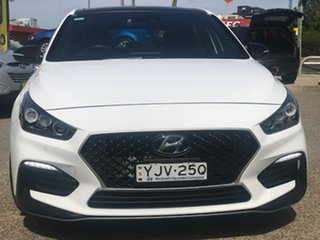 2020 Hyundai i30 PD.3 MY20 N Line D-CT Premium White 7 Speed Sports Automatic Dual Clutch Hatchback