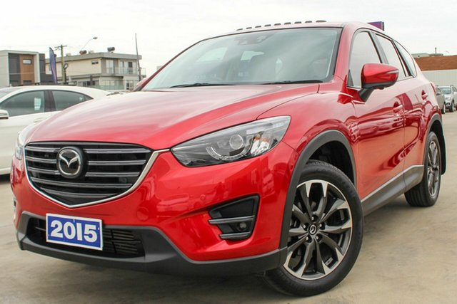 Used Mazda CX-5 KE1022 Akera SKYACTIV-Drive AWD Coburg North, 2015 Mazda CX-5 KE1022 Akera SKYACTIV-Drive AWD Red 6 Speed Sports Automatic Wagon