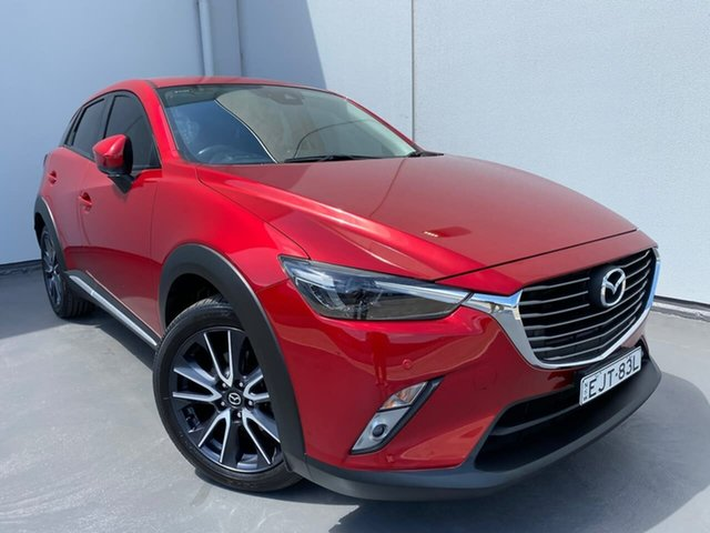 Used Mazda CX-3 DK4W7A Akari SKYACTIV-Drive i-ACTIV AWD Liverpool, 2017 Mazda CX-3 DK4W7A Akari SKYACTIV-Drive i-ACTIV AWD Red 6 Speed Sports Automatic Wagon