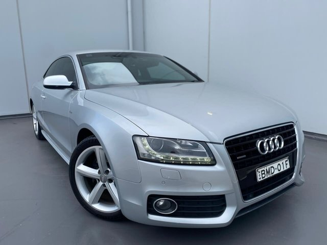 Used Audi A5 8T MY10 Quattro Liverpool, 2009 Audi A5 8T MY10 Quattro Silver 6 Speed Sports Automatic Coupe