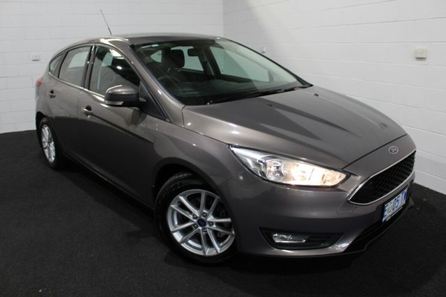 Used Ford Focus LZ Trend Glenorchy, 2015 Ford Focus LZ Trend Grey 6 Speed Automatic Hatchback