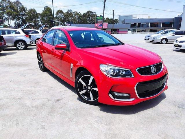 Used Holden Commodore VF II MY17 SV6 Liverpool, 2017 Holden Commodore VF II MY17 SV6 Red 6 Speed Sports Automatic Sedan
