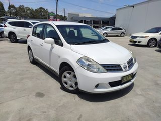 2010 Nissan Tiida C11 MY07 ST White 4 Speed Automatic Hatchback.