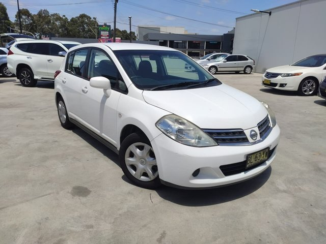 Used Nissan Tiida C11 MY07 ST Liverpool, 2010 Nissan Tiida C11 MY07 ST White 4 Speed Automatic Hatchback
