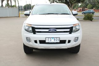 2015 Ford Ranger PX XLS 3.2 (4x4) White 6 Speed Manual Dual Cab Utility.