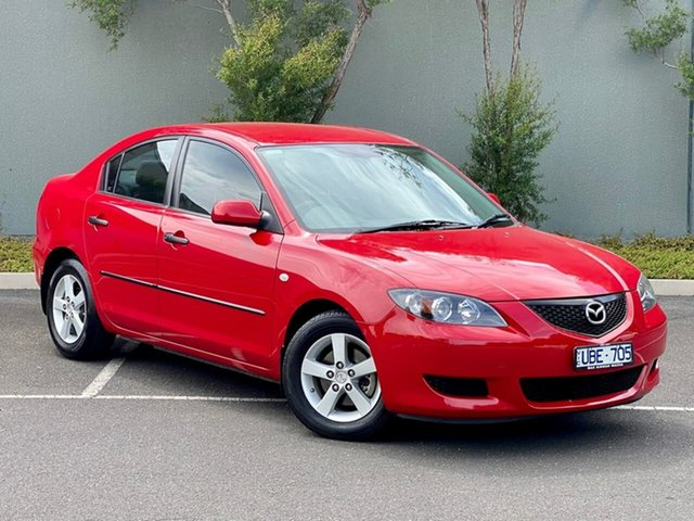 Used Mazda 3 BK10F1 Neo Templestowe, 2006 Mazda 3 BK10F1 Neo Red 4 Speed Sports Automatic Sedan