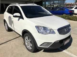 2013 Ssangyong Korando C200 SX White 6 Speed Automatic Wagon.