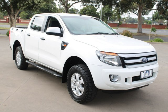 Used Ford Ranger PX XLS 3.2 (4x4) West Footscray, 2015 Ford Ranger PX XLS 3.2 (4x4) White 6 Speed Manual Dual Cab Utility