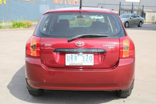 2006 Toyota Corolla ZZE122R MY06 Ascent Seca Maroon 5 Speed Manual Hatchback