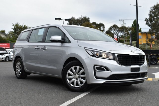 Used Kia Carnival YP MY19 S Wantirna South, 2018 Kia Carnival YP MY19 S Silky Silver 8 Speed Sports Automatic Wagon