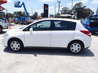 2010 Nissan Tiida C11 MY07 ST White 4 Speed Automatic Hatchback