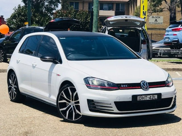 Used Volkswagen Golf VII MY14 GTI DSG Liverpool, 2014 Volkswagen Golf VII MY14 GTI DSG White 6 Speed Sports Automatic Dual Clutch Hatchback