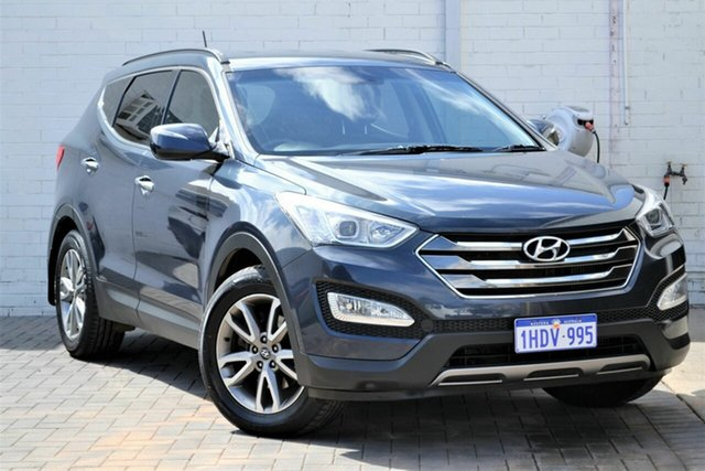 Used Hyundai Santa Fe DM MY13 Elite Mount Lawley, 2013 Hyundai Santa Fe DM MY13 Elite Black 6 Speed Sports Automatic Wagon