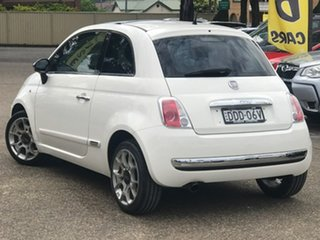 2008 Fiat 500 Series 1 Sport White 6 Speed Manual Hatchback.