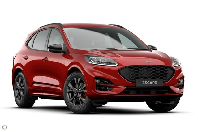 Demo Ford Escape ZH 2020.75MY ST-Line Ferntree Gully, 2020 Ford Escape ZH 2020.75MY ST-Line Red 8 Speed Sports Automatic SUV