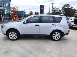 2011 Mitsubishi Outlander ZH MY11 LS 2WD Silver, Chrome 6 Speed Constant Variable Wagon