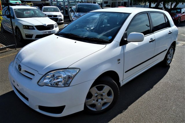 Used Toyota Corolla ZZE122R 5Y Ascent Seaford, 2005 Toyota Corolla ZZE122R 5Y Ascent White 4 Speed Automatic Hatchback