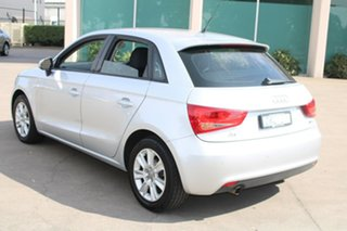 2012 Audi A1 8X MY12 Sportback 1.6 TDI Attraction Silver 7 Speed Auto Direct Shift Hatchback