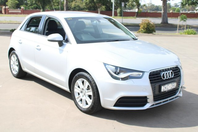 Used Audi A1 8X MY12 Sportback 1.6 TDI Attraction West Footscray, 2012 Audi A1 8X MY12 Sportback 1.6 TDI Attraction Silver 7 Speed Auto Direct Shift Hatchback