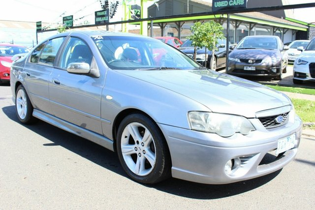 Used Ford Falcon BA XR6 West Footscray, 2004 Ford Falcon BA XR6 Silver 4 Speed Sports Automatic Sedan