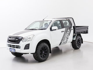 2017 Isuzu D-MAX TF MY17 SX (4x4) White 6 Speed Automatic Crew Cab Chassis.