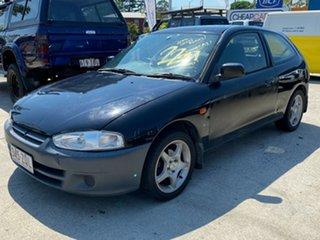 2003 Mitsubishi Mirage CE MY2002 Black 5 Speed Manual Hatchback.