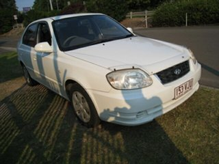 2006 Hyundai Accent LS 1.6 White 4 Speed Automatic Hatchback