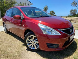2013 Nissan Pulsar C12 ST Red 1 Speed Constant Variable Hatchback.