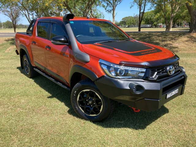 Used Toyota Hilux GUN126R Rugged X Double Cab South Grafton, 2018 Toyota Hilux GUN126R Rugged X Double Cab Inferno 6 Speed Sports Automatic Utility