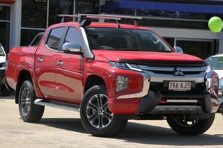 2020 Mitsubishi Triton MR MY21 GLS Double Cab Red 6 Speed Sports Automatic Utility.