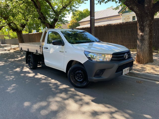Used Toyota Hilux TGN121R Workmate Double Cab 4x2 Hawthorn, 2016 Toyota Hilux TGN121R Workmate Double Cab 4x2 White 5 Speed Manual Utility