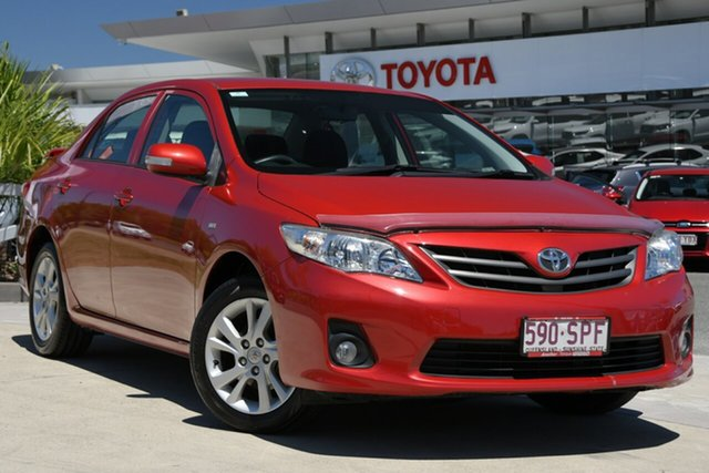 Pre-Owned Toyota Corolla ZRE152R MY11 Ascent Sport North Lakes, 2012 Toyota Corolla ZRE152R MY11 Ascent Sport Wildfire 4 Speed Automatic Sedan
