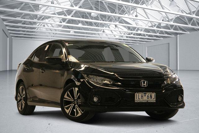 Used Honda Civic MY17 VTi-LX Altona North, 2017 Honda Civic MY17 VTi-LX Black Continuous Variable Hatchback