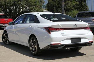 2020 Hyundai i30 CN7.V1 MY21 Elite Polar White 6 Speed Sports Automatic Sedan.