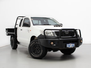 2012 Toyota Hilux KUN26R MY12 SR (4x4) White 5 Speed Manual X Cab Cab Chassis.