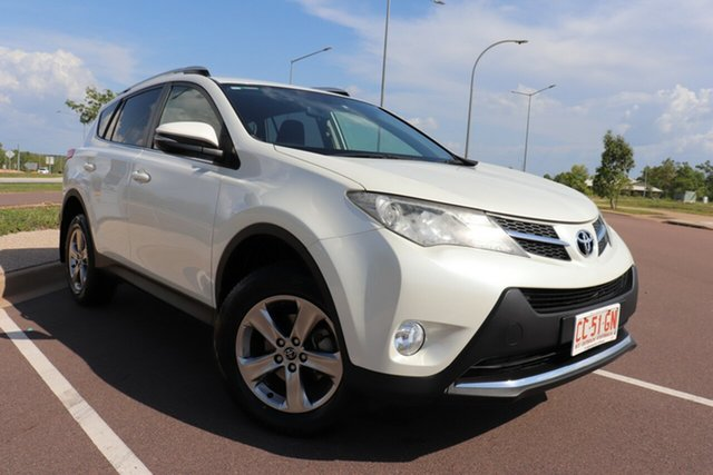 Pre-Owned Toyota RAV4 ZSA42R MY14 GXL 2WD Palmerston, 2014 Toyota RAV4 ZSA42R MY14 GXL 2WD Crystal Pearl 7 Speed Automatic Wagon