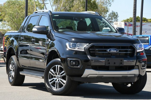 Used Ford Ranger PX MkIII 2020.25MY Wildtrak North Lakes, 2020 Ford Ranger PX MkIII 2020.25MY Wildtrak Black 10 Speed Sports Automatic Double Cab Pick Up
