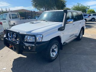 2016 Nissan Patrol Y61 GU 10 ST White 5 Speed Manual Wagon