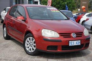 2006 Volkswagen Golf V Comfortline Tiptronic Red 6 Speed Sports Automatic Hatchback.