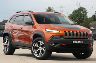 2014 Jeep Cherokee KL Trailhawk (4x4) Orange 9 Speed Automatic Wagon.
