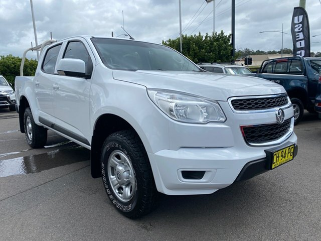 Used Holden Colorado RG MY16 LS Crew Cab Cardiff, 2016 Holden Colorado RG MY16 LS Crew Cab White 6 Speed Manual Cab Chassis