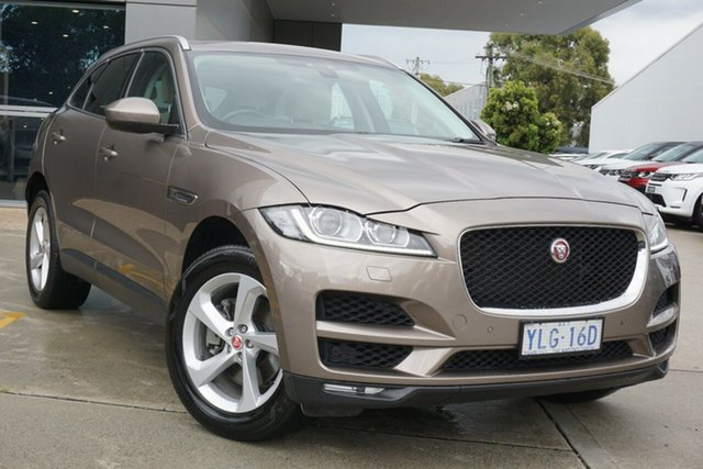 Used Jaguar F-PACE X761 MY17 Prestige Phillip, 2016 Jaguar F-PACE X761 MY17 Prestige Bronze 8 Speed Sports Automatic Wagon