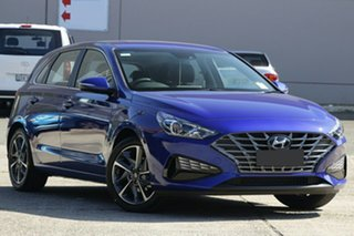 2020 Hyundai i30 PD.V4 MY21 Active Intense Blue 6 Speed Automatic Hatchback.