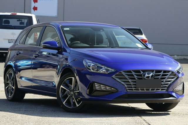 New Hyundai i30 PD.V4 MY21 Active Nunawading, 2020 Hyundai i30 PD.V4 MY21 Active Intense Blue 6 Speed Sports Automatic Hatchback
