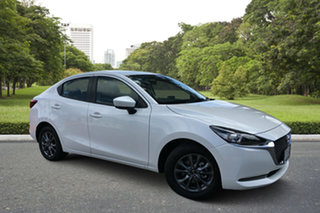 2020 Mazda 2 DL2SAA G15 SKYACTIV-Drive Pure White Pearl 6 Speed Sports Automatic Sedan.
