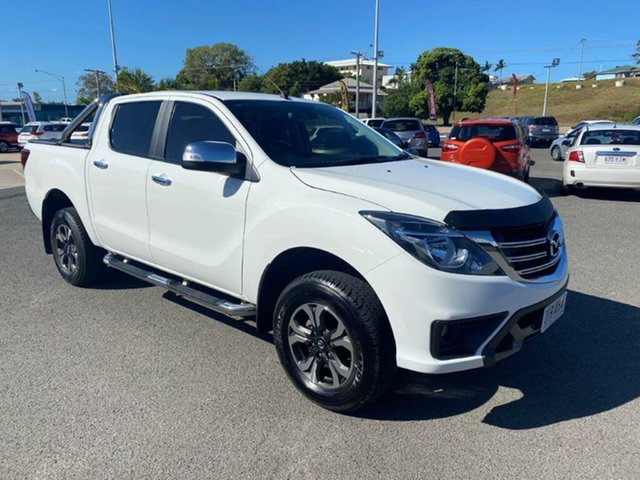 Used Mazda BT-50 UR0YG1 GT Gladstone, 2018 Mazda BT-50 UR0YG1 GT White 6 Speed Sports Automatic Utility