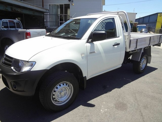 Used Mitsubishi Triton MN MY15 GL Coopers Plains, 2014 Mitsubishi Triton MN MY15 GL White 5 Speed Manual Cab Chassis