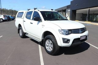 2015 Mitsubishi Triton MN MY15 GLX Double Cab White 5 Speed Manual Utility.