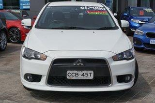 2015 Mitsubishi Lancer CJ MY15 LS White 6 Speed Constant Variable Sedan.